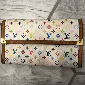Louis Vuitton MultiColored Classic Monogram Wallet